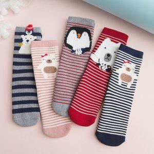 чорапки зимни животинки